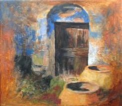 Behind Door Number Two Painting by JoanAnn Robinson