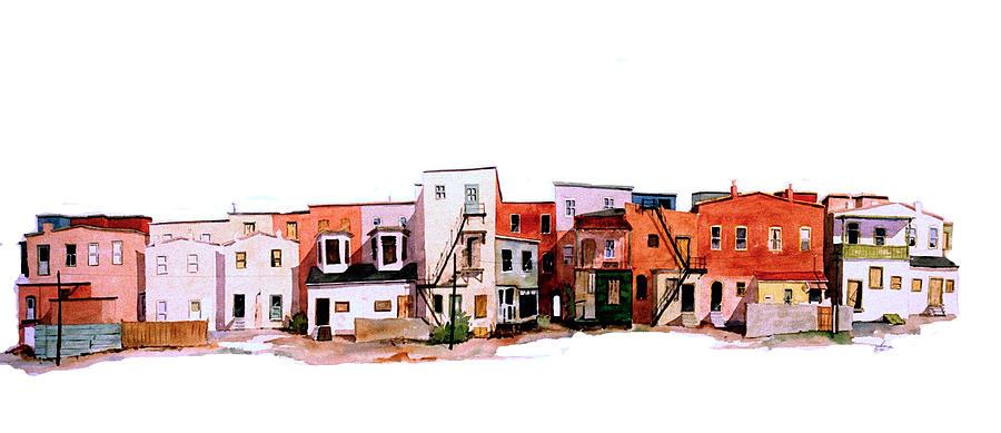 Urban Painting - Behind Fourth Street by William Renzulli