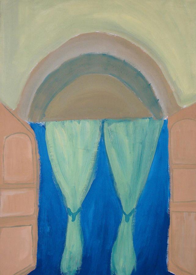 Closed Door Meeting Painting - Behind Scene by Madhurima Bidkar