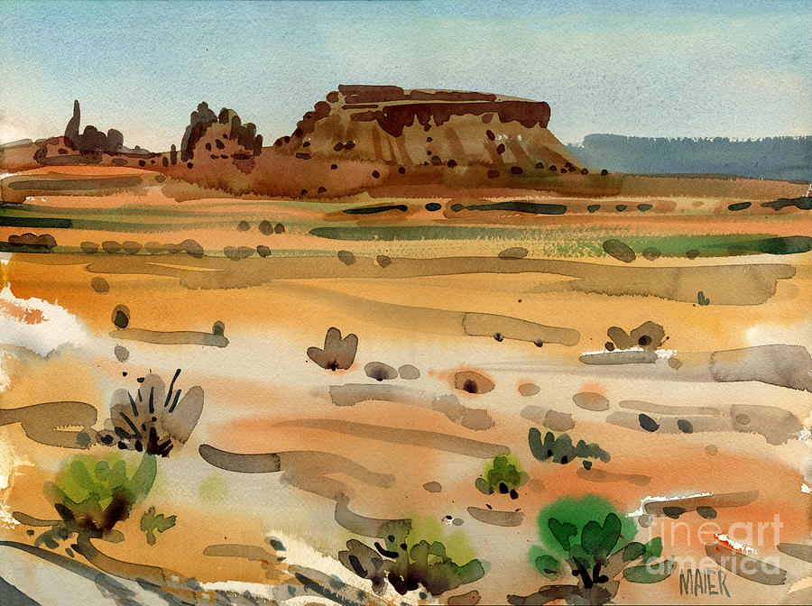 Buttes Painting - Behind Shiprock by Donald Maier