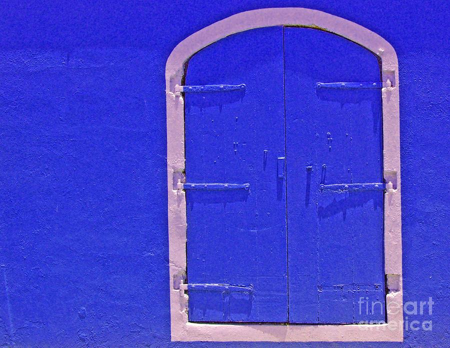 Door Photograph - Behind The Blue Door by Debbi Granruth