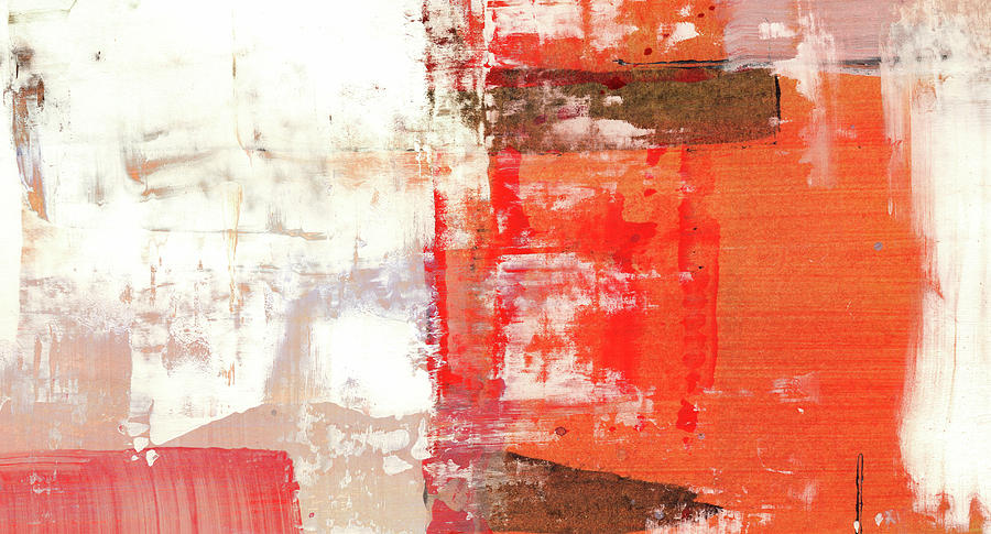 Abstract Painting - Behind The Corner - Warm Linear Abstract Painting by Modern Abstract