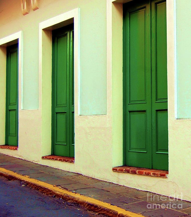 Doors Photograph - Behind The Green Doors by Debbi Granruth