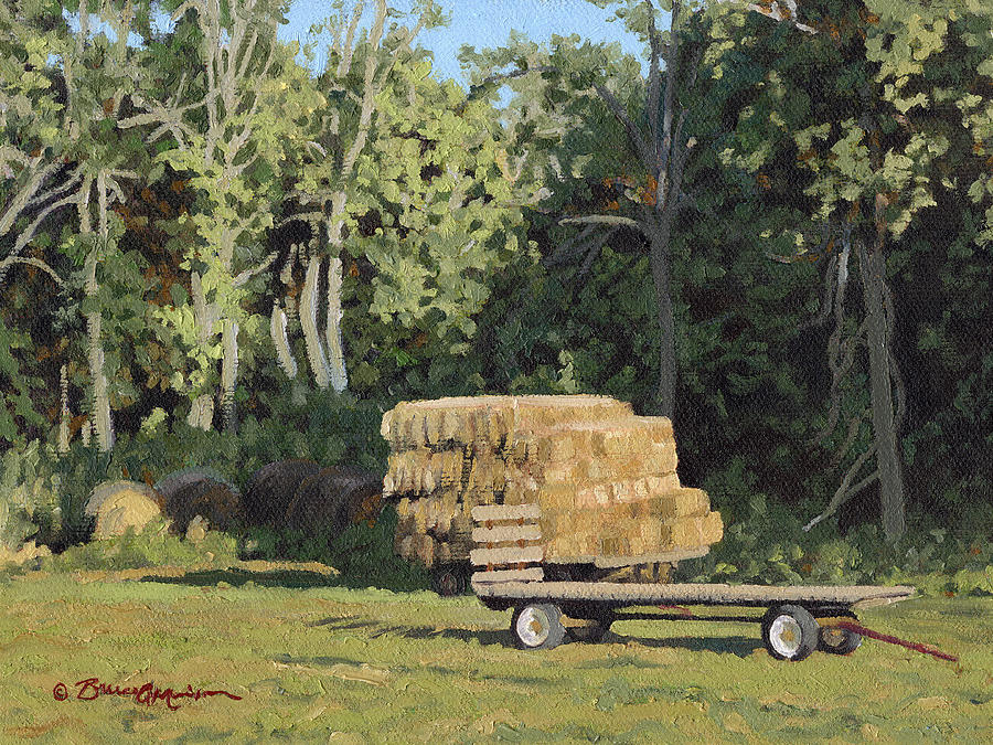 Landscape Painting - Behind The Grove by Bruce Morrison