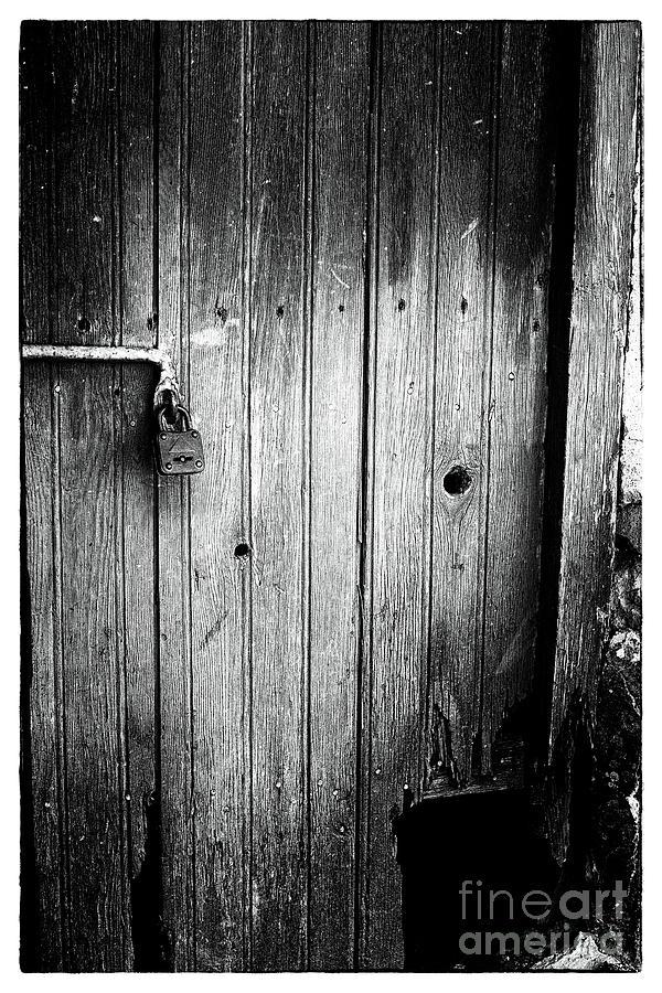 Locked Door Photograph - Behind The Locked Door by John Rizzuto