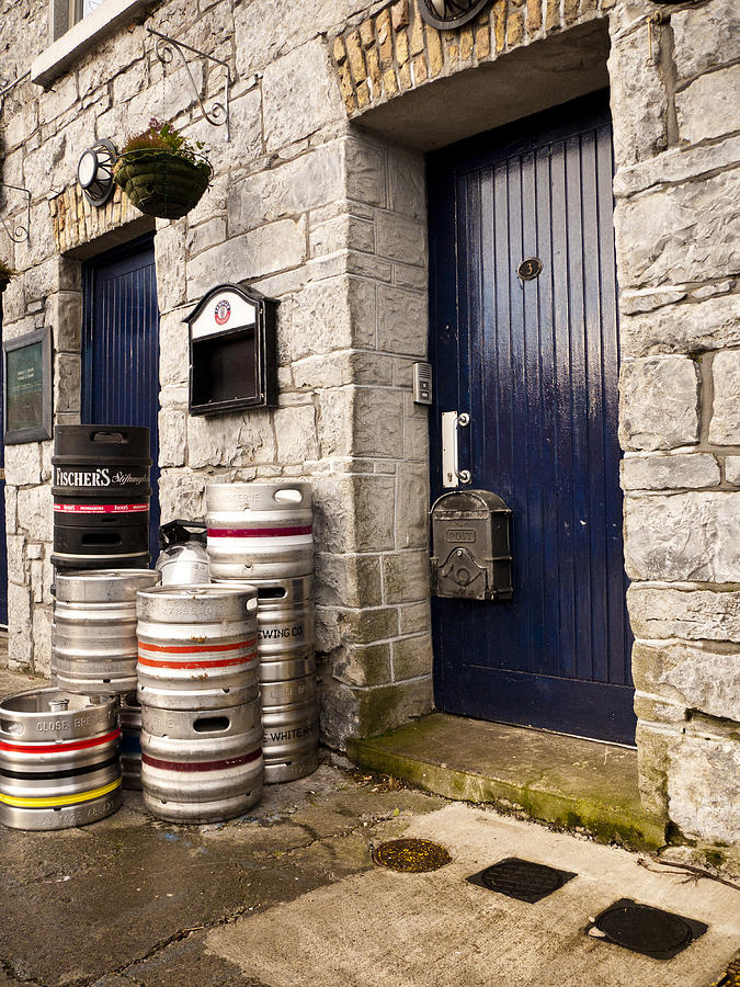 Galway Photograph - Behind The Pub by Rae Tucker