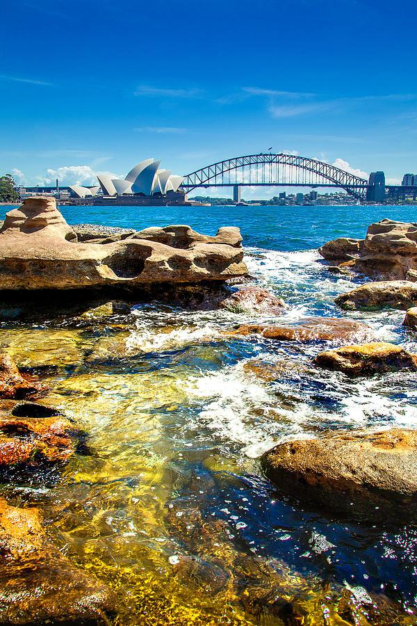 Sydney Photograph - Behind The Rocks by Az Jackson