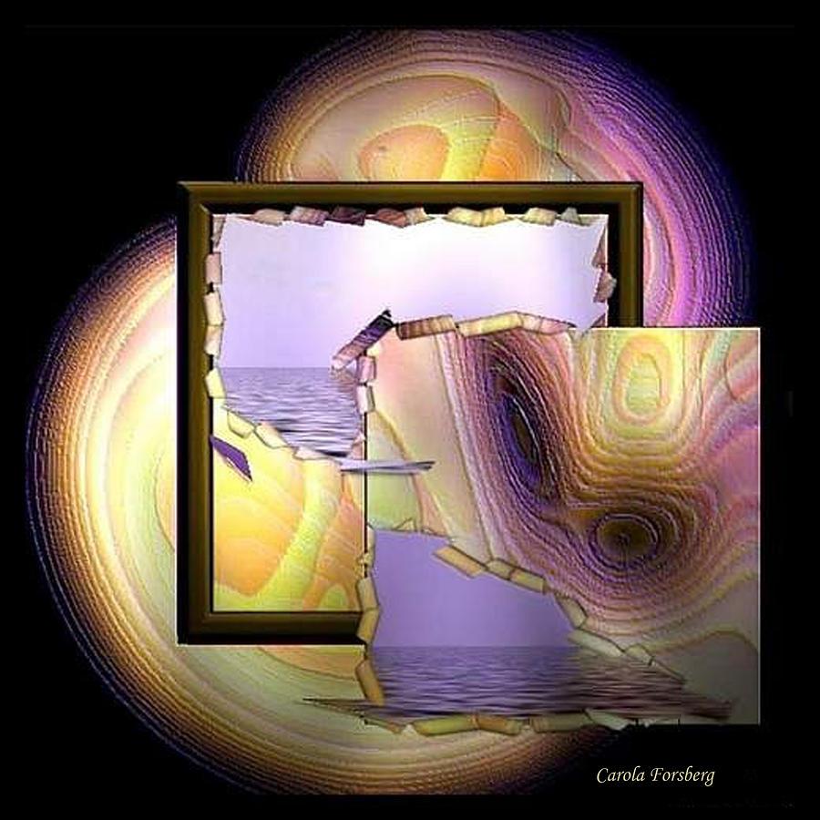 Water Digital Art - Behind The Scene by Carola Ann-Margret Forsberg