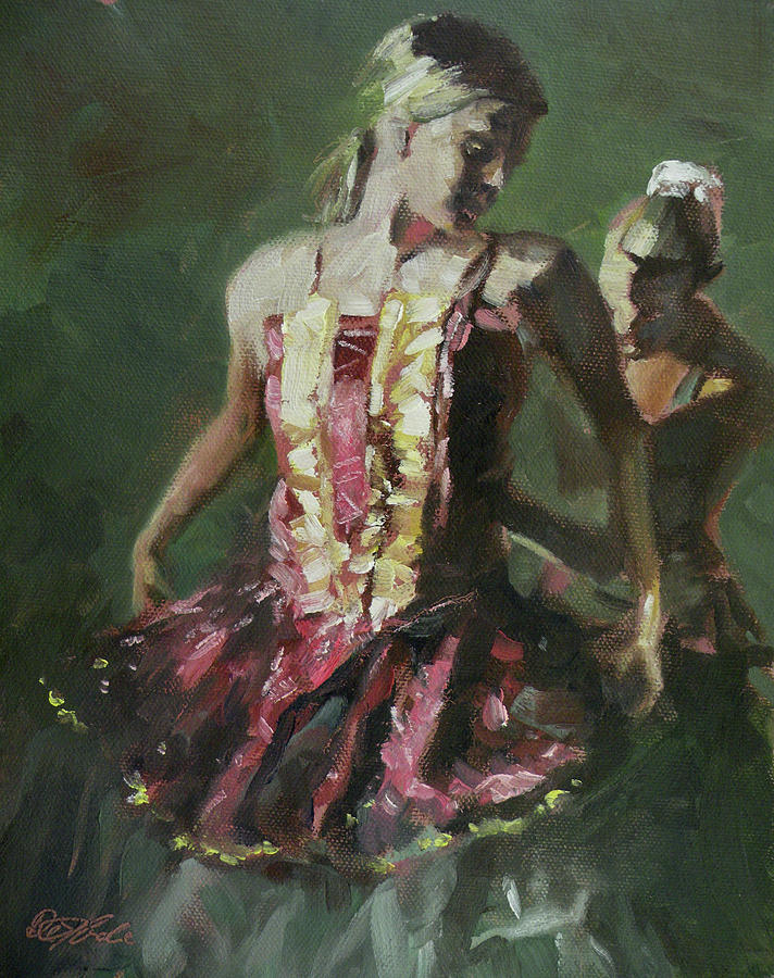 Dancers Painting - Behind The Scenes by Mia DeLode