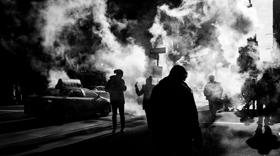 Blackandwhite Photograph - Behind The Smoke by Johnny Lam
