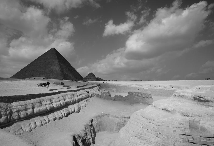 Pyramid Photograph - Behind The Sphynx by Donna Corless