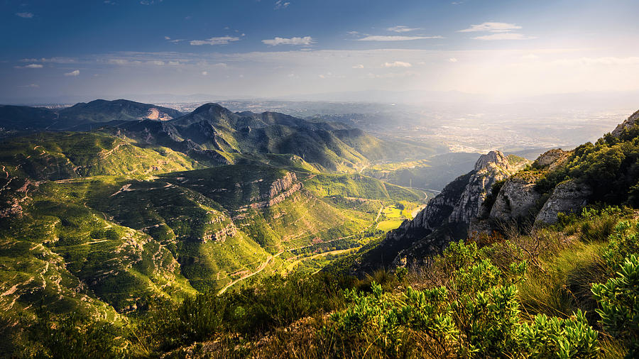 behind the sunlit mountains by Darko Ivancevic
