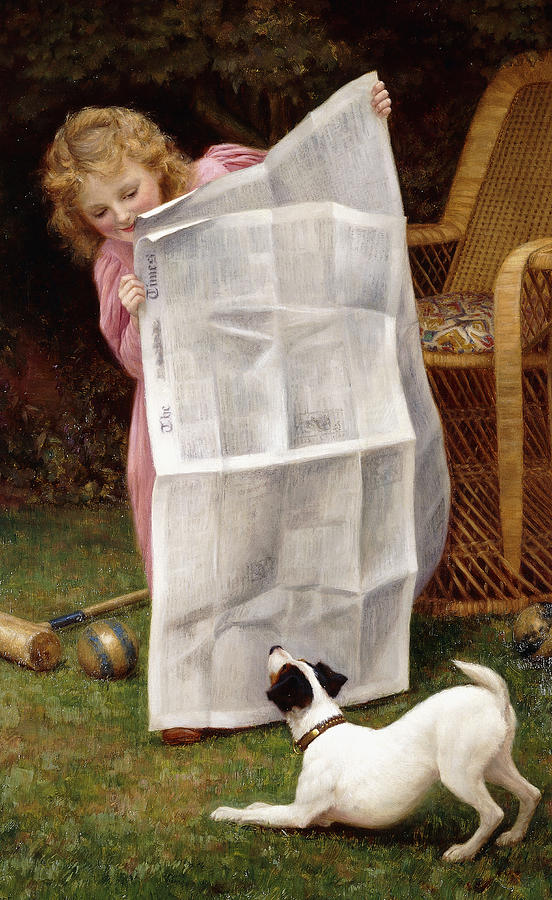 Dog Painting - Behind The Times by William Henry Gore