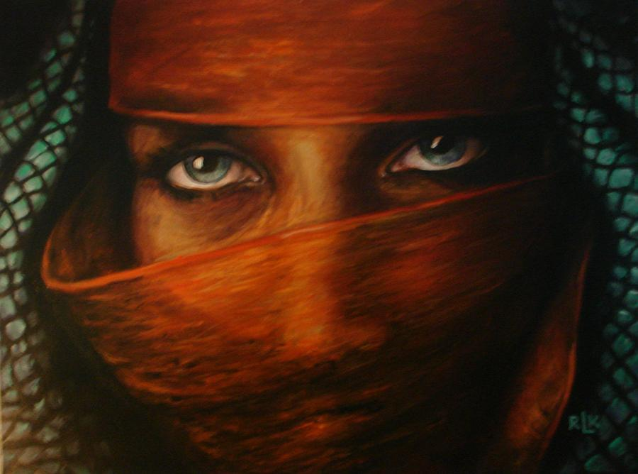 Culture Painting - behind the veil II by Richard Klingbeil