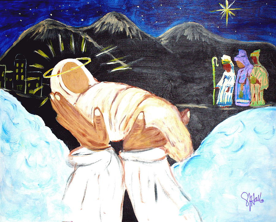 Religious Painting - Behold Him by Sheila J Hall