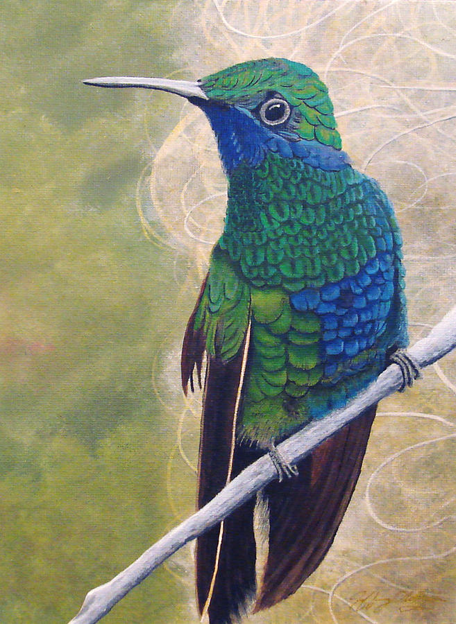 Humming Bird Painting - Beija Flor And Nest by Jeffrey Oldham