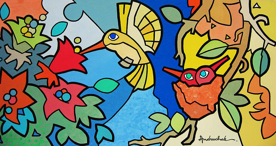 Fauna Painting - Beija-flor by Marcos Andruchak