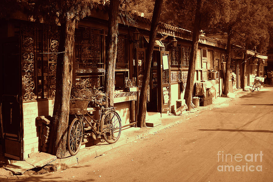 Bicycle Photograph - Beijing City 8 by Xueling Zou