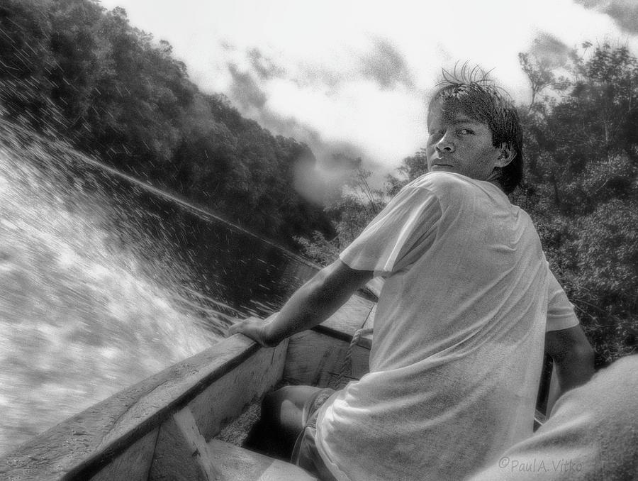 ...being followed on the Churun River in Venezuela.... Photograph by Paul Vitko