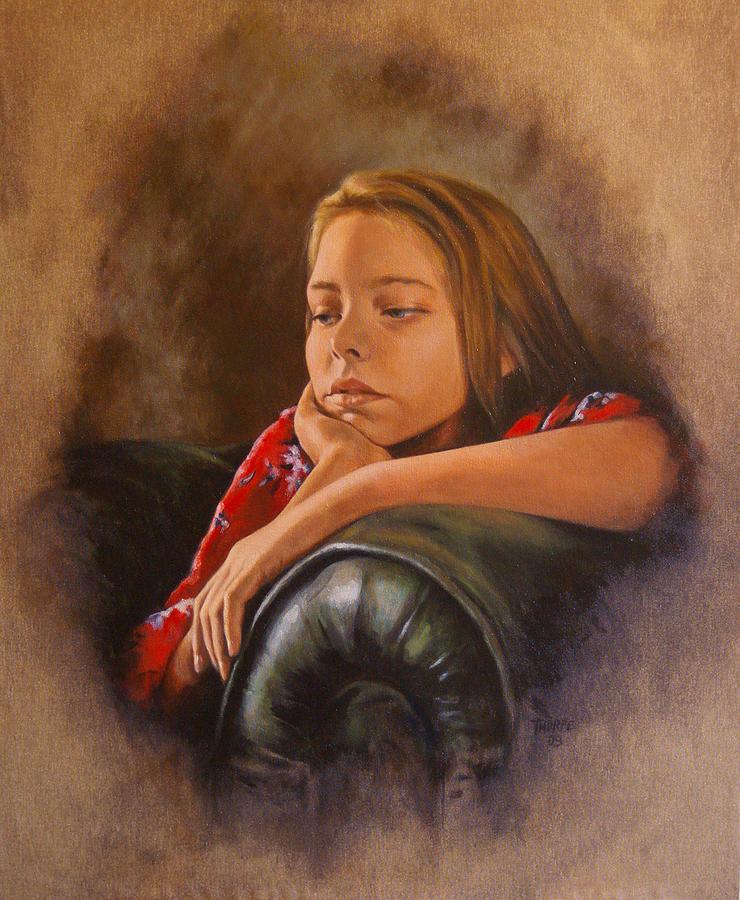 Portrait Painting - Being Twelve by Tim Thorpe