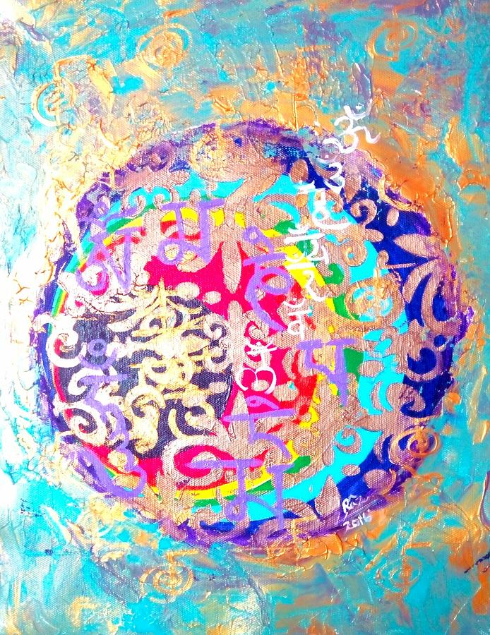 Beingness Painting - Beingness Emergence From The Black Hole by Rizwana Mundewadi