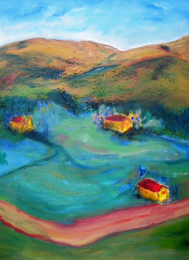 Landscape Painting - Beit Shemesh by Suzanne Udell Levinger