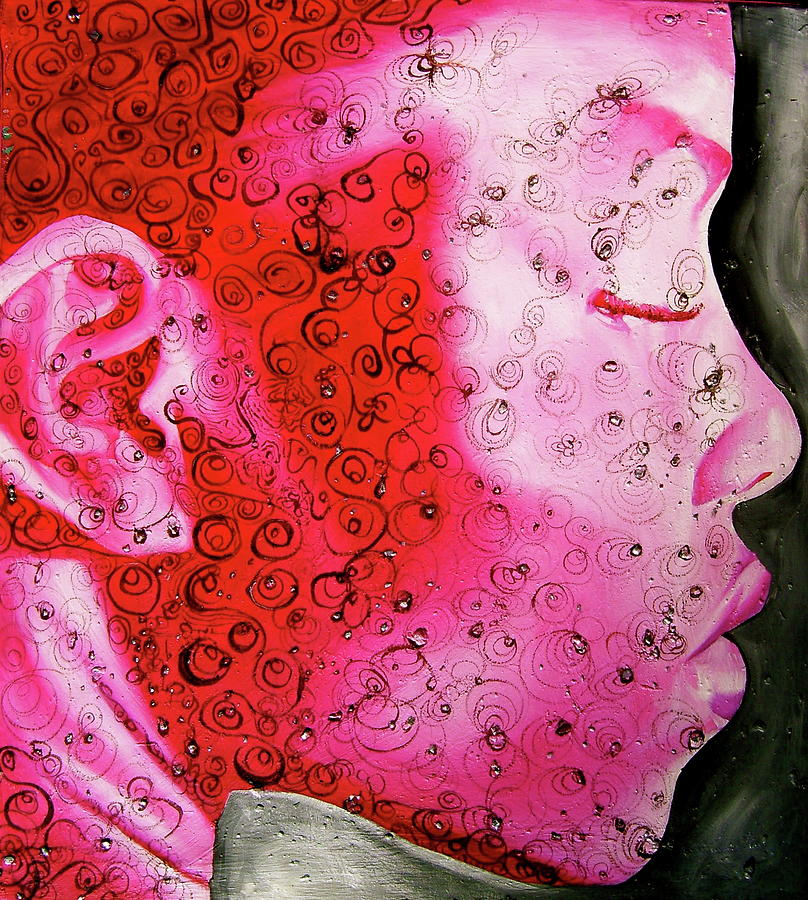 Pink Painting - Bejeweled  by Laura Pierre-Louis