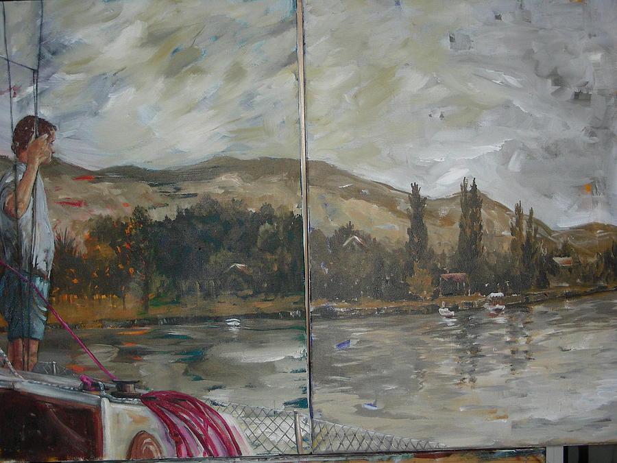Bekleyis Painting by Nilgun Pekin