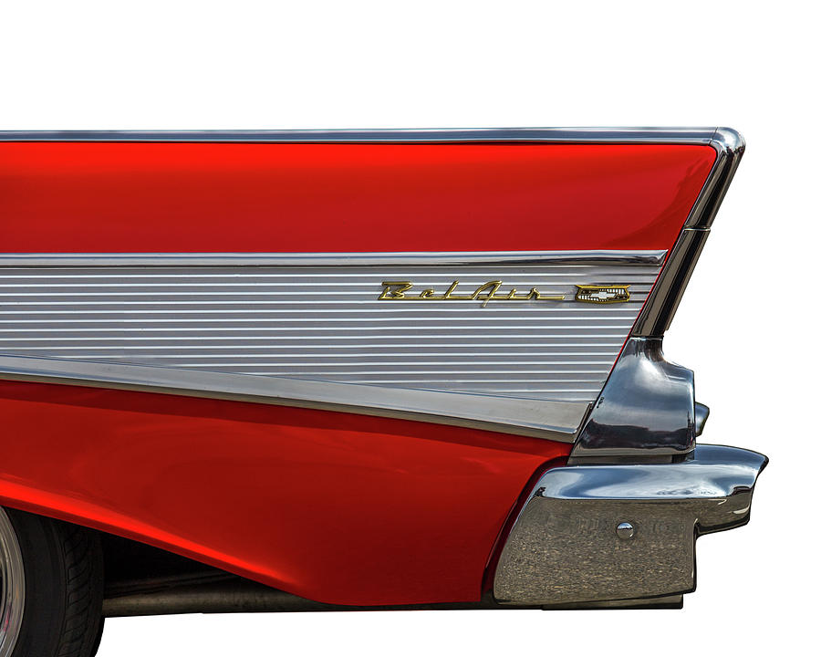 57 Chevy Photograph - Bel Air by Peter Tellone