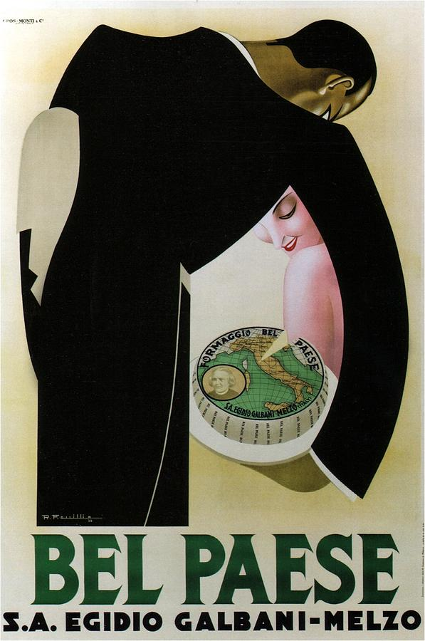 Bel Paese - Melzo, Italy - Vintage Cheese Advertising Poster Mixed Media