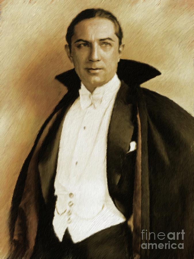 Bela Painting - Bela Lugosi As Dracula by Mary Bassett