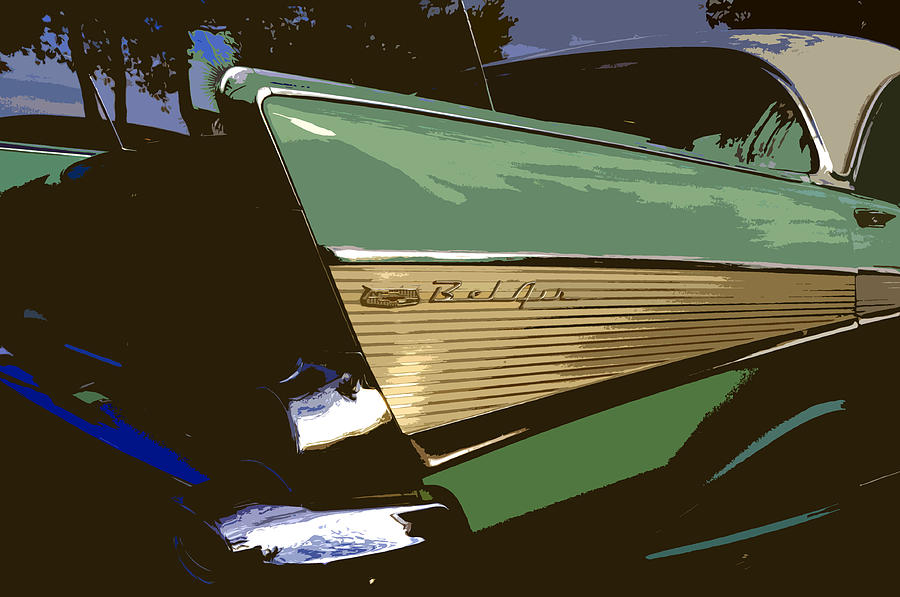 Chevy Painting - Belair by David Lee Thompson