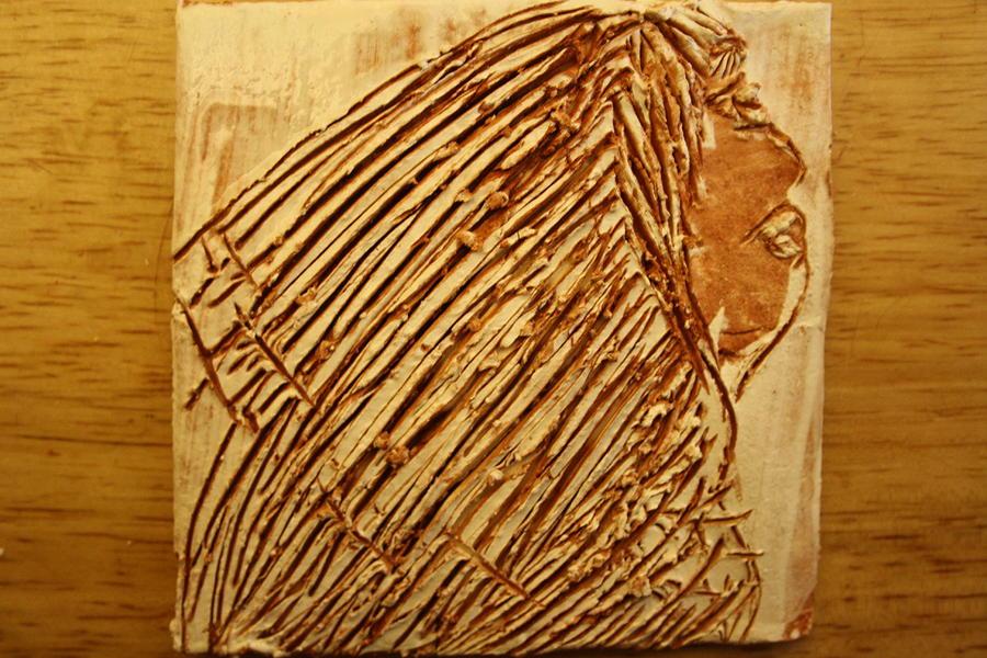 Jesus Ceramic Art - Beleif - Tile by Gloria Ssali