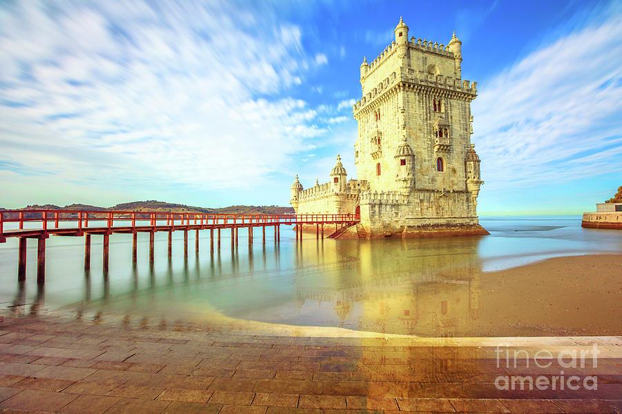 Lisbon Photograph - Belem Tower Reflects by Benny Marty