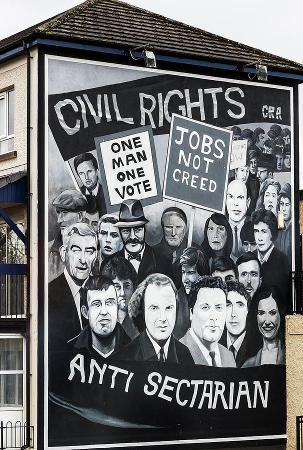 Belfast Photograph - Belfast Mural - Civil Rights - Ireland by Jon Berghoff