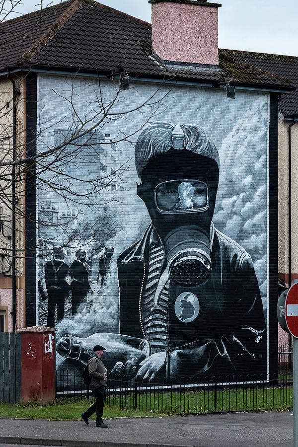 Belfast Photograph - Belfast Mural - Face Mask - Ireland by Jon Berghoff