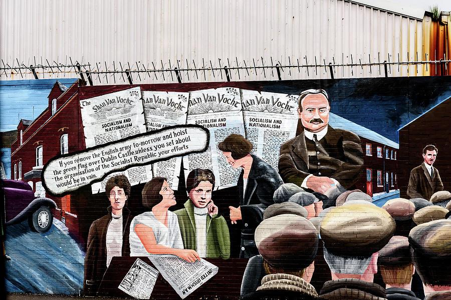Belfast Photograph - Belfast Mural - Sledge Hammer - Ireland  by Jon Berghoff