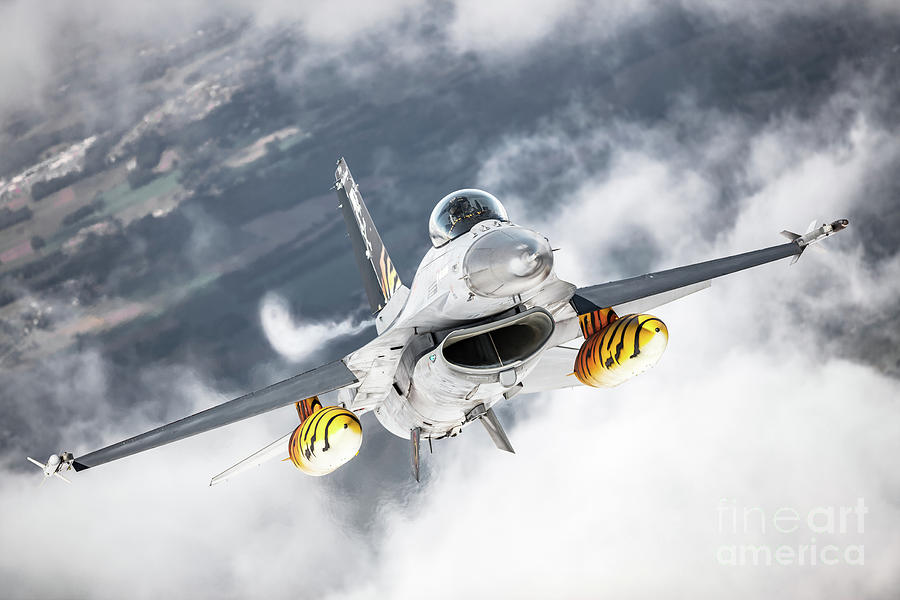 Army Photograph - Belgian F-16 Falcon 1 by Rastislav Margus