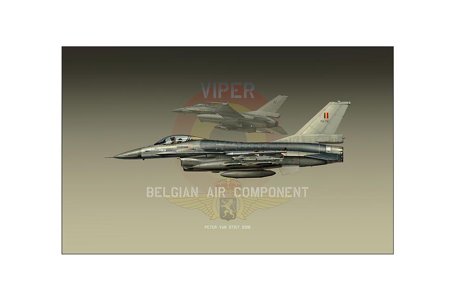 War Digital Art - Belgian Viper Xxl by Peter Van Stigt