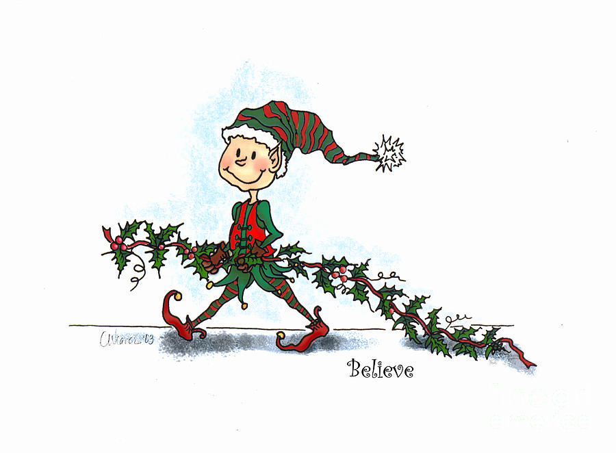Christmas Card Digital Art - Believe by Cathy Weaver