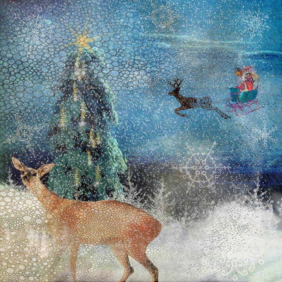 Santa Photograph - Believe by Diana Boyd
