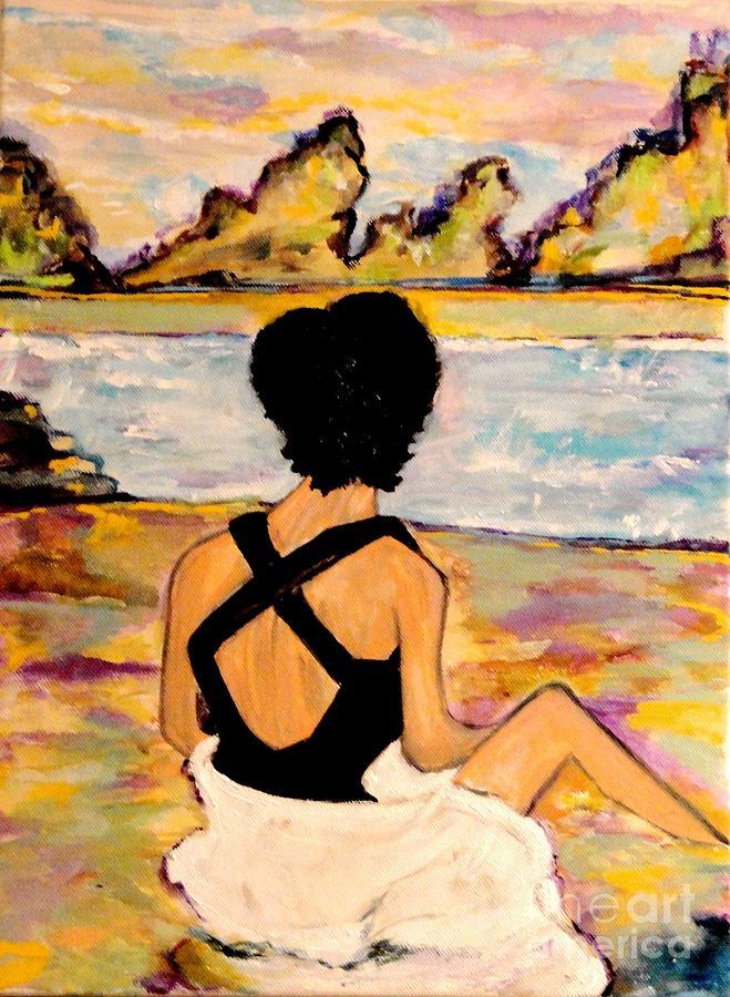 Woman Painting - Believe by Helena Bebirian