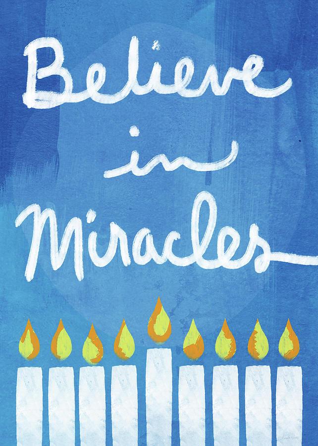 Hanukkah Mixed Media - Believe In Miracles- Hanukkah Art By Linda Woods by Linda Woods