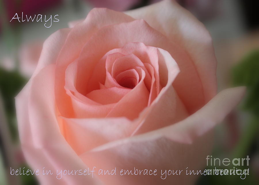 Inner Beauty Photograph - Believe In Yourself Card Or Poster by Carol Groenen