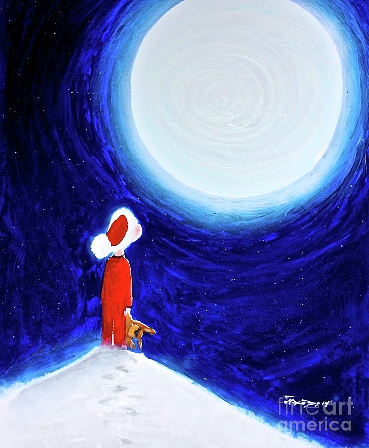 Christmas Painting - Believe by Kevin Scott Jacobs