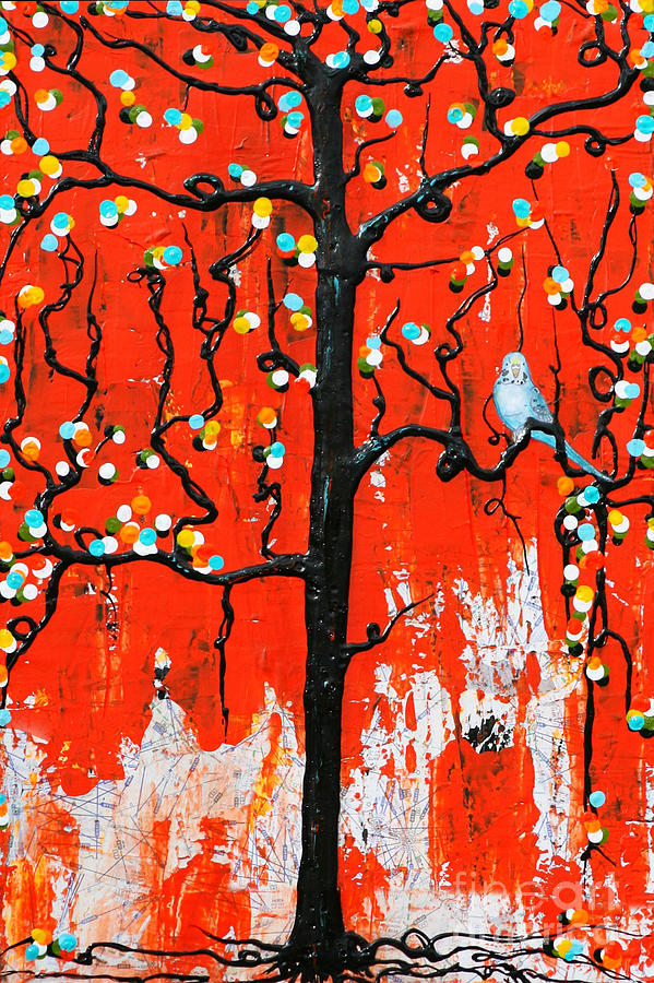 Budgie Painting - Believe by Natalie Briney