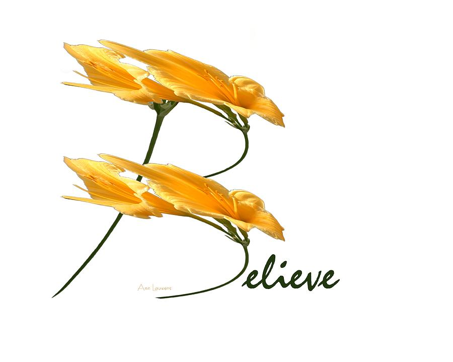 Believe shirt by Ann Lauwers