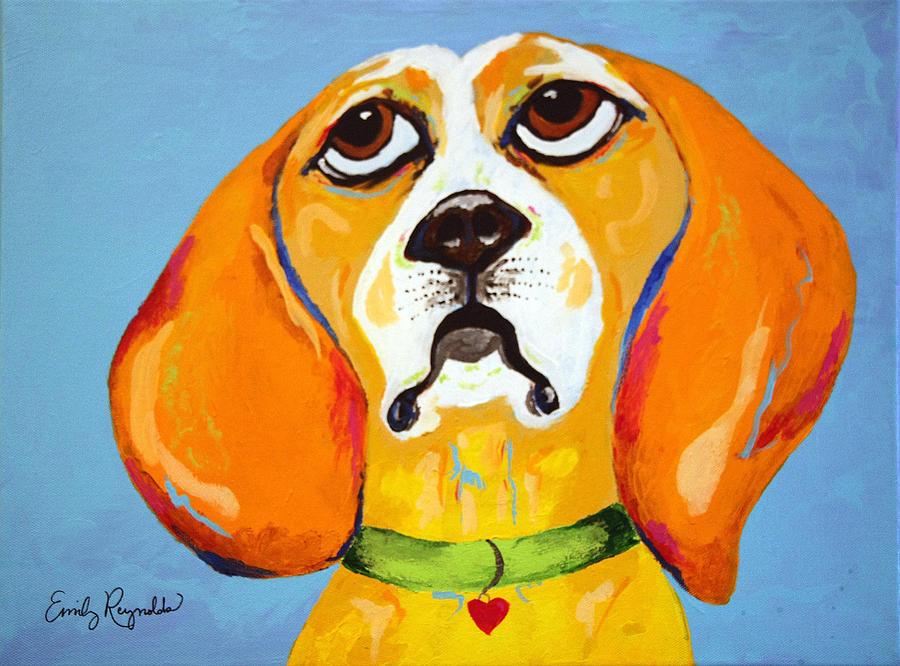 Dog Painting - Belinda The Beagle by Emily Reynolds Thompson