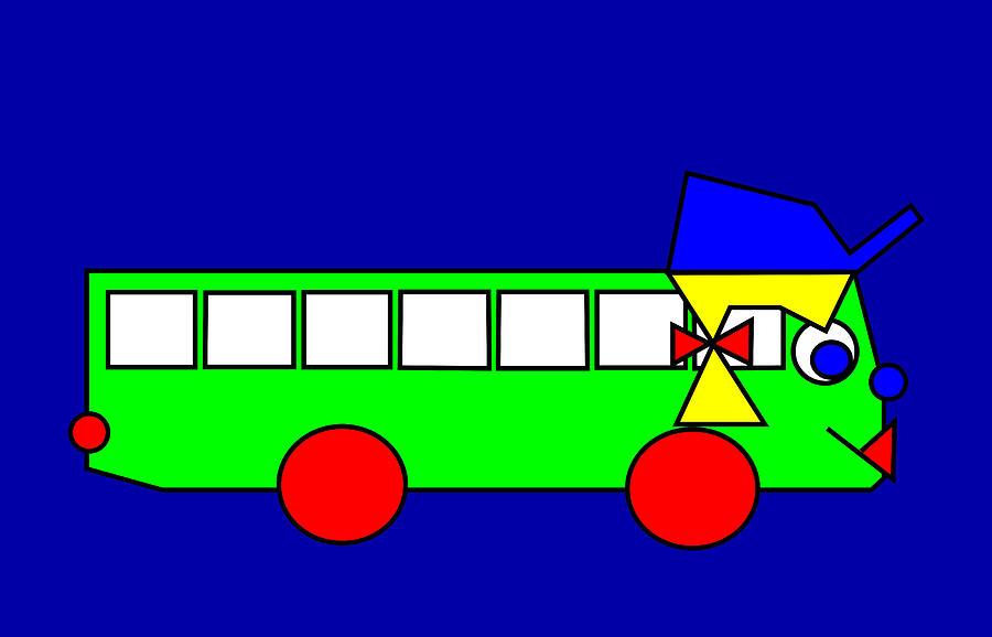 Belinda Digital Art - Belinda the Bus by Asbjorn Lonvig