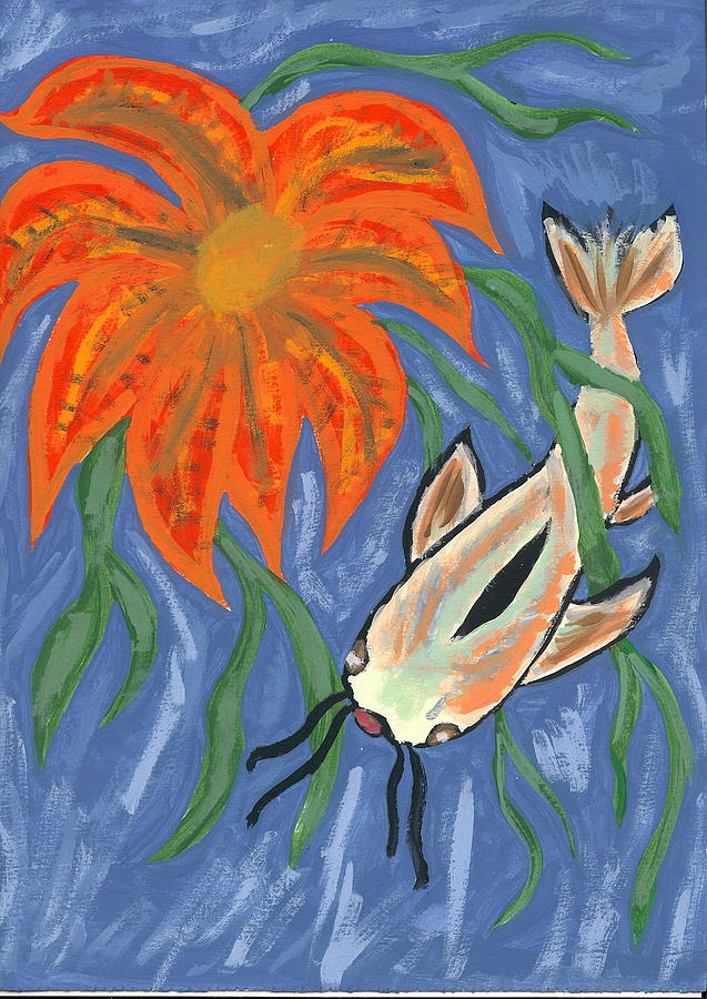 Flower Painting - Belize by Laura Lillo